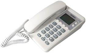 Corded Landline Phone Uniden As6404 White With Speakerphone & Caller Id