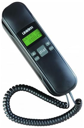 Corded Landline Phone Uniden As 7103 Black With Caller Id