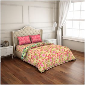 CORE Designed by Spaces Cotton Floral Double Size Bedding Set