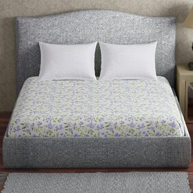 CORE Designed by SPACES Medley Purple 1 Double Bed Sheet with 2 Pillow Covers