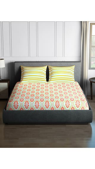 ccccfa5cc CORE Designed by SPACES Season Best Premium Chrome 1 Double Bed Sheet with  2 Pillow Covers