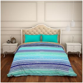 CORE Designed by Spaces Cotton Geometric Double Size Comforter Multi