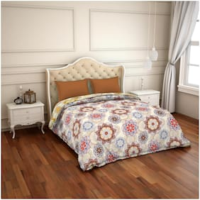 CORE Designed by Spaces Cotton Floral Double Size Comforter Multi