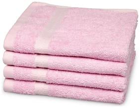Core Designed By Spaces Season Best Pink Solid 4 pcs Face Towel Set