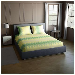 CORE Designed by SPACES Splendor  Multi Color 1 Double Bed Sheet with 2 Pillow Covers