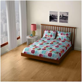 CORE Designed by SPACES Splendor  Magenta 1 Double Bed Sheet with 2 Pillow Covers
