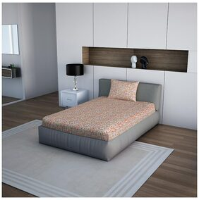 Core Designed By Spaces Season Best Premium 1 Single Bed Sheet With 1 Pillow Cover