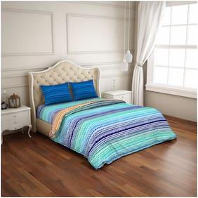 CORE Designed by Spaces Cotton Striped Double Size Bedding Set