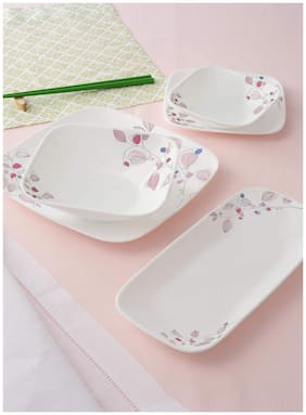 Corelle Asia Square Round Pink Breeze - Small Plate, 6 pcs Set