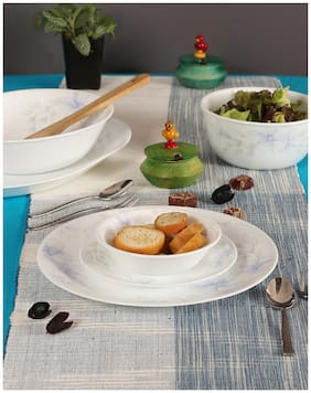 Corelle Glass Dinner Sets - Set of 12 , Assorted