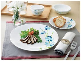 Corelle India Collection - Blossom Blue Small Plate, 6 pcs Set