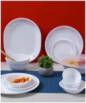 Corelle Vitrelle glass Dinner Sets - Set of 30 , White