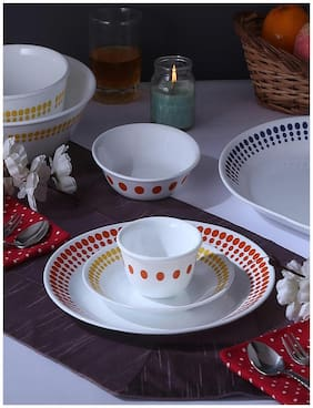 Corelle Glass Dinner Sets - Set of 21 , Assorted