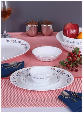 Corelle Glass Dinner Sets - Set of 30 , Assorted