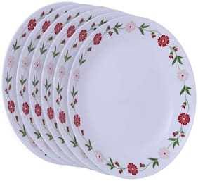 Corelle Livingware Small plates- Spring Pink (Pack of 6)