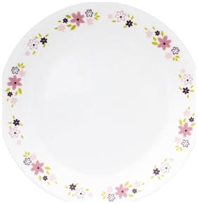 Corelle Livingware Floral Fantasy Dinner Plate  26 2cm  6 Pieces  White