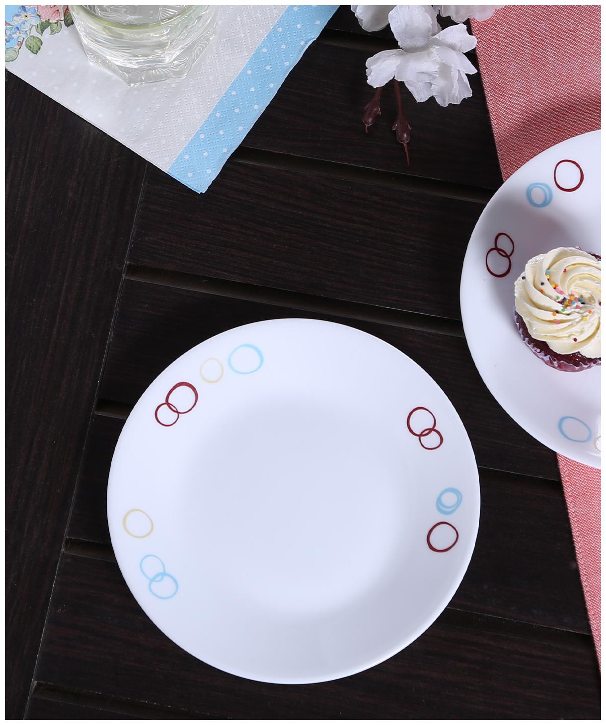 Corelle Livingware Circle 6 pcs Small Plates by Sheffield Classic