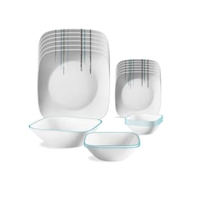 Corelle Vitrelle glass Dinner Sets - Set of 21 , Assorted
