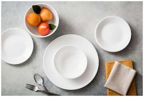 Corelle Round WFW 57 pcs Set - Winter Frost White