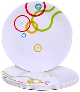 Corelle Small Plate-Hula Hoop, Pack Of 6