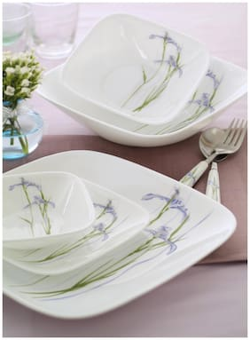 Corelle Square Round Asia 21 SQ pcs set - Shadow Iris