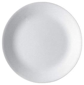 Corelle Winter Frost White Coupe - Medium Plate  Pack of 6