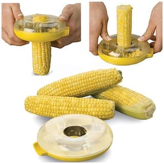 Corn Cutter And Peeler Plastic And Stainless Steel