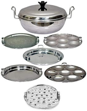 Corporate Overseas Plain Bottom Idli Cooker Idli Maker 5 In 1