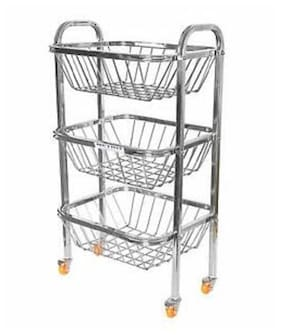 Corporate Overseas Vegetable Trolley 3 Basket