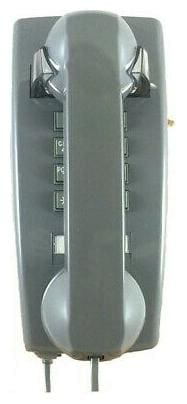 Cortelco ITT-2554-V-SL Gray Vintage Style Wall Mount Phone With Volume Control