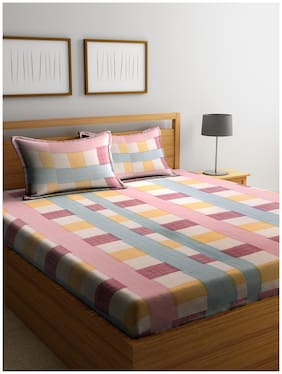 Cortina 104 TC 100% Cotton Bedsheet for Double Bed