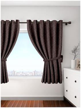 Cortina Blackout Damask Single Pc Window Curtain