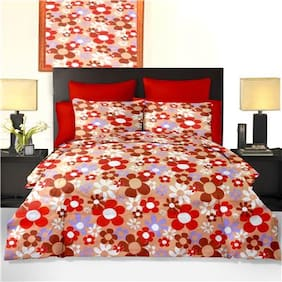 Cortina Double Bed Sheet With 2 Pillow Covers