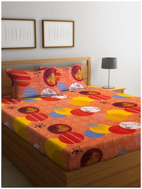 Cortina Double Bed Sheet With Two Pillow Cover (queen size)