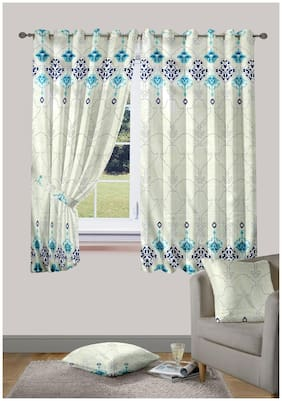 Cortina Hazel Window Blue Set Of 2 Curtain