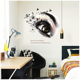 Cortina Let Me See The World In Your Eyes 3D Wall Stickers