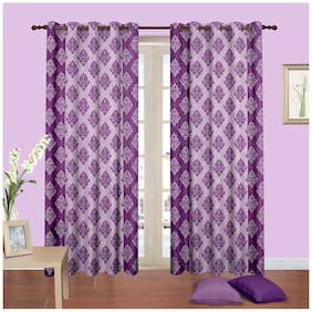 Cortina New Bbd Purple Curtain 9 X 4 Feet - Set Of 2