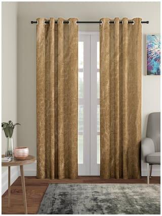 Cortina Pack of 2 Long Crush Polyester Curtain Long Door