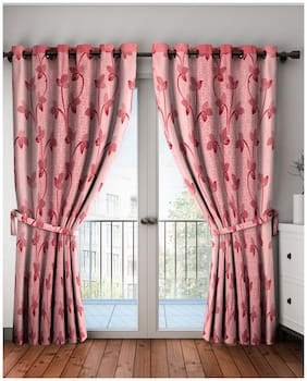 Cortina Polyester Printed Door Curtains for Bedroom;Kitchen;Kids or Living Room