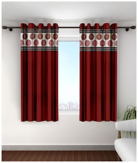 Cortina Jacquard Window Semi Transparent Multi Regular Curtain ( Eyelet Closure , Solid )