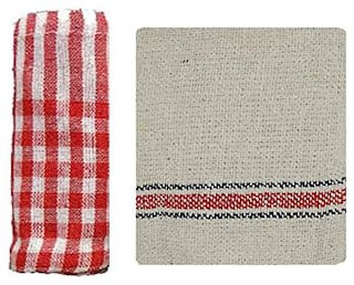 Cotton Floor Duster/Wet & Dry Cleaning Cloth 2 pc(18 x 18 inch)+ Cotton Kitchen Duster 2 pcs(18 * 18 inch)