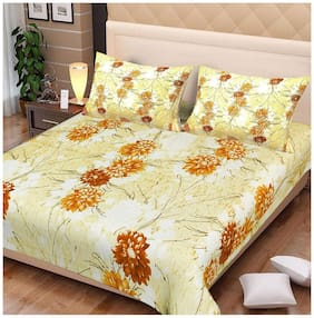 Spangle Cotton Abstract King Size Bedsheet 180 TC ( 1 Bedsheet With 2 Pillow Covers , Multi )