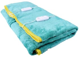 COZYLAND Polyester Solid Double Size Electric Blanket Green