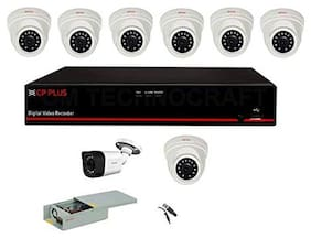 Cp Plus 16 Channel Dvr With 2.4 Mp 7 Dome & 1 Bullet Cameras + 2 Tb Surveillance Hard Disk + 16 Ch Power Supply + Bnc & Dc Full Combo Kit