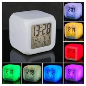 CPEX 7 Colour Changing LED Digital Alarm Clock with Date, Time, Temperature For Office Bedroom