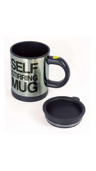 Cpex Stainless Steel Self Stirring Coffee Mug