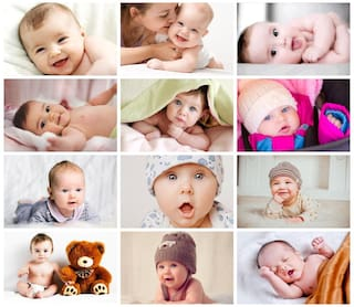 Craft Qila Set of 12 Cute Baby Posters Combo   Smiling Baby Poster   Poster for Pregnant Women   HD Baby Wall Poster for Room Decor GI81 (45 cm x 30 cm) Pack of 12