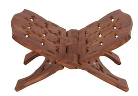 CraftShoppee Wooden Elegant Holy Book Stand For Puja Ghar/Home