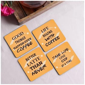 Crazy Sutra Premium HD Printed Standard Size Coasters for Tea Coffee,Cups,Mugs Beer,Cans Bar Glass (Set of 4)