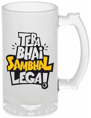 Crazy Sutra Glass Funny and Cool Quote Beer Mug 500 ML